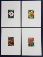 GABON 2001 YT 1146 / 1149 FLOWERS - DELUXE PROOF EPREUVE DE LUXE - ULTRA RARE - Gabon