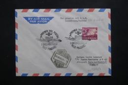 LUXEMBOURG - Enveloppe 1er Vol Luxembourg / Madrid En 1956 , Affranchissement Plaisant - L 42501 - Lussemburgo