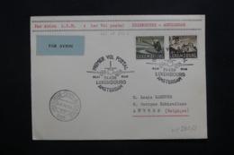 LUXEMBOURG - Enveloppe 1er Vol Luxembourg / Amsterdam En 1956 , Affranchissement Plaisant - L 42503 - Lussemburgo