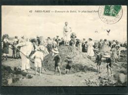 CPA - PARIS PLAGE - Concours De Sable - Le Plus Haut Fort, Très Animé - Le Touquet