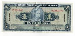 !!! PRIX FIXE : NICARAGUA, 1 CORDOBA SERIE DE 1960 NEUF, LEGERE PLIURE CENTRALE - Nicaragua