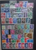 BELGIE  1943-45   Samenstelling   Nr. 631-38 / 653-60 / 661-69 ... Zie Foto  Scharnier *      CW  24,00 - Neufs