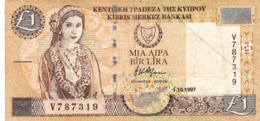 """CYPRUS (GREECE) 1 POUND 1997 F P-60a  """"free Shipping Via Regular Air Mail (buyer Risk)"""" - Cyprus"""