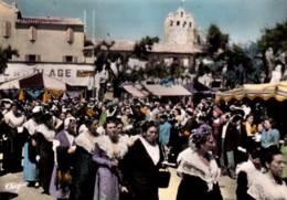 "CPSM - SAINTES-MARIES-de-la-MER - CAPITALE De La ""NACIOUN GARDIANO"" ARLESIENNES à LA PROCESSION ... - Saintes Maries De La Mer"