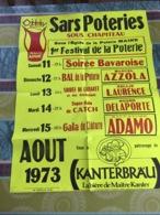 Sarts Poteries 59 Nord  - Affiche ( Avec Salvatore Adamo ) Août 1973 - Affiches