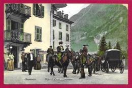 CPA Chamonix - Départ D'une Caravane - Chamonix-Mont-Blanc