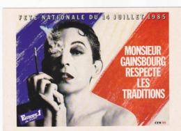 Lot 3 Cp-celeb-serge Gainsbourg - Artistas