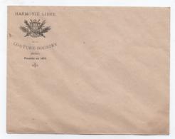 Musique / Enveloppe à En-tête/ Harmonie Libre De La Couture Boussey / Eure / Fondée En 1875 / Vers 1900     PART275 - Ohne Zuordnung