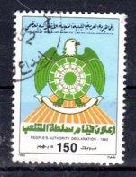 28.3.1992; Proklamation Der Volkssouveränität; Mi-Nr. 1910; Gest. Los 51643 - Libia