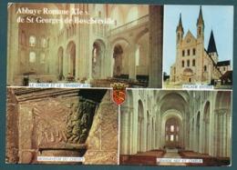 SAINT MARTIN DE BOSCHERVILLE - Abbaye Romane XIè S De St Georges De Boscherville - Multivues - Saint-Martin-de-Boscherville