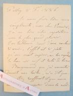 L.A.S 1886 Alfred De CURZON Peintre Migné-Auxances à VERNIER - Bracquemond Garnier Homéopathie Lettre Autographe Passy - Autographes