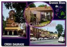 CPSM Croix Daurade Toulouse L'eglise La Rue La Mairie - Toulouse