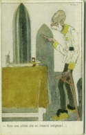 WWI ITALIAN PROPAGANDA AGAINST Franz Joseph I OF AUSTRIA - OMAGGIO AI PRODI COMBATTENTI GALLIENI MILANO -  (BG462) - Illustratori & Fotografie