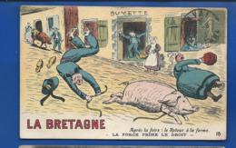 LA BRETAGNE  BUVETTE   Humouristique  Cochon      Animées - Frankrijk