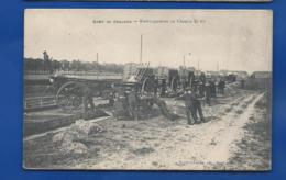 Camp De Chalons  Embarquement En Chemin De Fer      Animées - Manöver