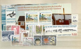 1996 MNH Greenland, Year Complete According To Michel, Postfris - Greenland
