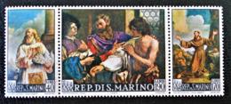 TABLEAUX DU GUERCINO  1967 - TRYPTIQUE NEUF ** - YT 694/96 - MI 887/89 - Saint-Marin