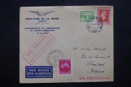 PAYS BAS - Enveloppe De Amsterdam Par Vol Retour Spécial Namur / Amsterdam En 1947, Affranchissement Plaisant - L 42529 - Periode 1891-1948 (Wilhelmina)