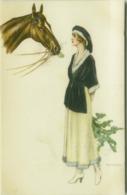 BANCHI SIGNED 1920s POSTCARD - WOMAN & HORSE - N.2089 (BG466) - Illustrators & Photographers