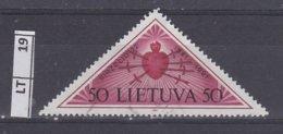 LITUANIA   1991Anniversario Occupazione 50 K - Lituania