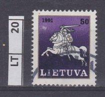LITUANIA   1991Posta Ordinaria, 50 K Usato - Lituania