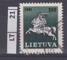 LITUANIA   1991Posta Ordinaria 100 K Usato - Lituania