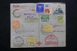 PAYS BAS - Enveloppe 1er Vol Pays Bas / Surinam / Curaçao En  1934 , Affranchissements Plaisants - L 42530 - Periode 1891-1948 (Wilhelmina)