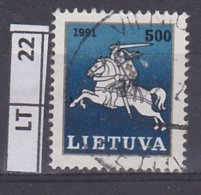 LITUANIA   1991Posta Ordinaria 500 K Usato - Lituania