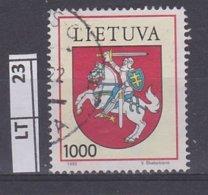 LITUANIA   1992Stemma 1000 T Usato - Lituania