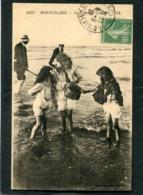 CPA - BERCK PLAGE - La Pêche Aux Crevettes, Animé - Berck