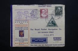 PAYS BAS - Enveloppe 1er Vol Pays Bas / Australie En 1938 Et Retour , Affranchissements Recto/ Verso Plaisants - L 42531 - Periode 1891-1948 (Wilhelmina)