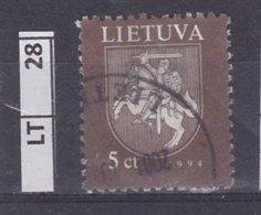 LITUANIA   1997Stemma, 5 C Usato - Lituania