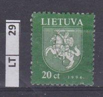 LITUANIA   1997Stemma, 20 C Usato - Lituania