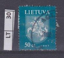 LITUANIA   1997Stemma, 50 C Usato - Lituania