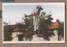 CPSM 13 - SAINTES-MARIES-de-la-MER - Statue De Mireille - TB PLAN EDIFICE CENTRE VILLAGE - Saintes Maries De La Mer