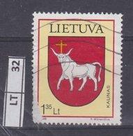 LITUANIA   1998Stemma, 3,35 Usato - Lituania