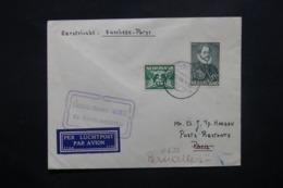 PAYS BAS - Enveloppe De Wageningen Pour Bruxelles Via Paris En 1933 Par Avion , Affranchissement Plaisant - L 42533 - Periode 1891-1948 (Wilhelmina)