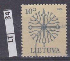 LITUANIA   2000Simboli 10 C Usato - Lituania