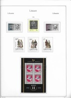 1995 MNH Lituania Year Collection Postfris** - Lituania