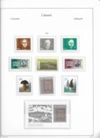 1997 MNH Lituania Year Collection Postfris** - Lituania