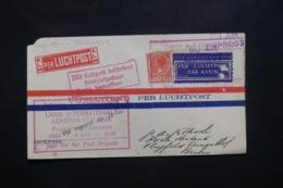 PAYS BAS - Enveloppe De La Haye Pour Berlin Par Avion En 1930, Griffe Vol Reporté - L 42535 - Periode 1891-1948 (Wilhelmina)