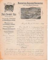 1809 MOREZ-du-JURA - HORLOGERIE MONUMENTALE Avec Force Hydraulique - Paul OBOBEY Fils - Documents Historiques