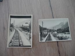 2 Photos Originales 8.9 X 6.4 Saint Gervais 1943 Rails Chemins De Fer - Trains