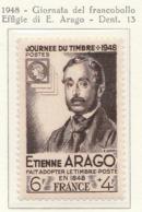 PIA - FRAN : 1948 : Giornata Del Francobollo - Effigie Di E. Arago - (Yv 794) - Giornata Del Francobollo