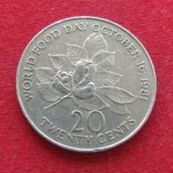 Jamaica 20 Cents 1984 KM# 120 Food Day Jamaique Jamaika - Jamaica