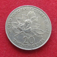 Jamaica 20 Cents 1984 KM# 120 Food Day Jamaique Jamaika - Jamaique