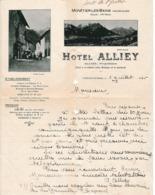 1926 - MONETIER-les-BAINS (05) - HÔTEL ALLIEZ - Historische Documenten