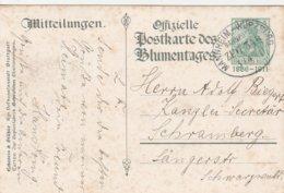 Allemagne Ambulant Mannheim-Wurzburg Sur Entier Postal Illustré 1911 - Deutschland