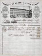 1864 - COMINES - Fabrique De RUBANS En Tous Genres - LAUWICK Frères - Documents Historiques