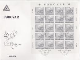 Faroe Islands 1982 FDC Europa CEPT Complete Sheet (LAR5-69) - Europa-CEPT